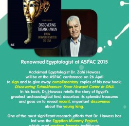 Zahi Hawass in Manila on 27 & 28 April for ASPAC Conference 2015