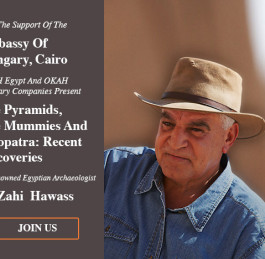 Zahi Hawass lectures in Budapest, Hungary, on 18 May