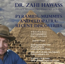 Zahi Hawass lectures on 23 June at the Abusir and Saqqara 2015 Conference in Prague