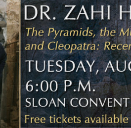 Zahi Hawass gives a free lecture in Bowling Green, Kentucky, on August 4th