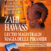 Dr Zahi Hawass lectures in Italy in March